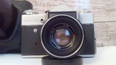 Zenit E with 58mm f2 Helios lens