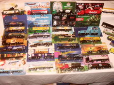 Brewery trucks, advertising trucks, 80 pieces, some vintage, special models, special editions, original packaging, trucks