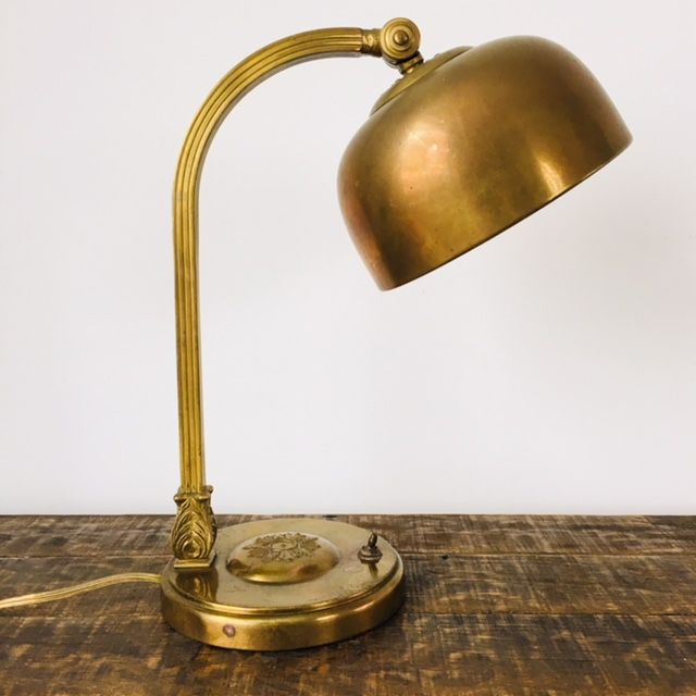 An old copper solicitor's lamp