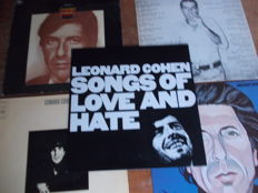 Nice Lot with 5 Albums of the Great Leonard Cohen