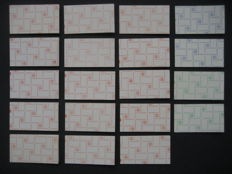 The Netherlands 1969/1970 - Selection of 19 stamp booklets, no. 9, including booklets with counting square.fmmm