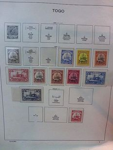 German colonies 1896/1916 - collection of colonies on album sheets, mainly MNH