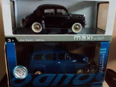 Solido - Scale 1/18 - Renault Colorale 1953 - Blue & Renault 4 CH1954 - Black