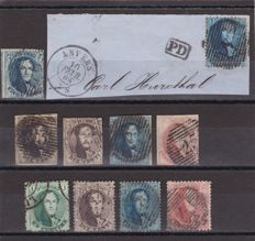 Belgium 1849/1924 - a selection with semi-postal , postage due , railway and telegraph stamps