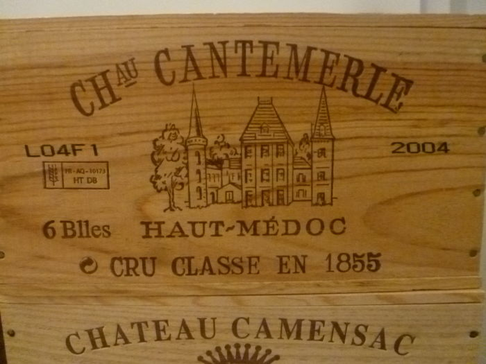 2004 Chateau Cantemerle, Haut-Medoc Grand Cru Classé - 6 bottles (75cl) in OWC