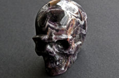 Finest quality Dream Amethyst skull - 10 X 7.5 X 6.1 cm - 613 gm