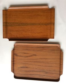 Unknown designer - Plywood teak tray - 2x tray