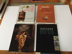 Lot of 4 books on netsuke and inro - 1989/2001