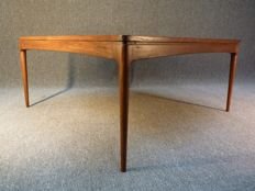 Ole Wanscher for A.J. Iversen - square teak coffee table