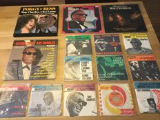 Ray Charles - Collection total of 16 records - 3 LP's - 1 rare Box set of 2 LP's - 11 singles 7 inch 45 RPM