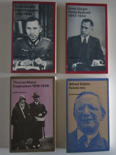 Privé-domein; Lot with 4 volumes of German literature - 1982 / 1988