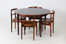 Arne Vodder and Helge Sibast for Sibast - Vintage table with four chairs