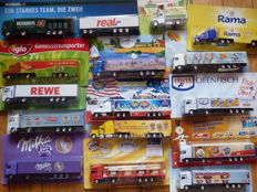 Various - scale 1/87 - lot with 70 models - 70 x advertising lorries - collection from Germany