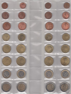 Spain - Year packs Euro coins 1999/2012 (14 pieces)