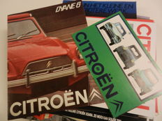 CITROEN 2cv, Dyane6, Ami, AX, Axel, Visa, Xsara, ZX, BX, Xantia, DS3, C1, Berlingo, Company Vehicles Brochures.   46 pieces