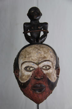 Beautiful Tribal Fetish Mask – PENDE – D.R. Congo