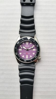 """Seiko 4205-015B """"Purple"""" vintage diver's watch from 04-1990"""