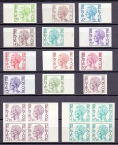 Belgium 1970/1990 - Collection of imperforate stamps King Baudouin, type Elström