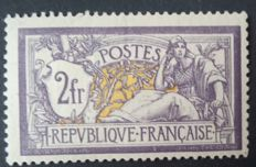 France 1900 - Merson 2 Fr purple and yellow - Yvert no 122