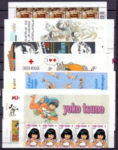 Belgium 2000/2015 - Collection of 9 small sheets