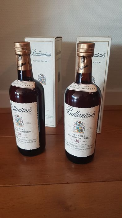 2 bottles - Ballantine's 30 years old Scotch Whisky