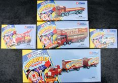 Corgi Classics - Scale 1/50 - Lot of 5 vehicles´Chipperfields Circus´ 1994