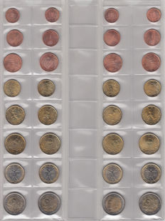 Italy - year sets of euro coins 2002/2012 (11 items)