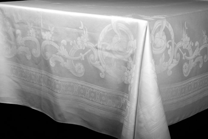 tablecloth of fine linen damask flanders circa 1920 1930 catawiki