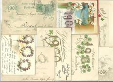 Lot of 25 greetings cards 1900 / 1901 / 1902 - Happy New Year