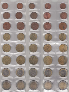 France - Year packs Euro coins 1999/2012 (14 pieces)