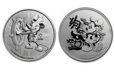 Niue - 2 dollars 2017 & 2018 'Mickey Mouse' Disney (2 coins) - 2 x 1 oz silver