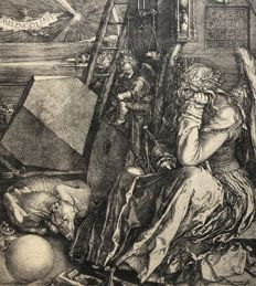 Albrecht Dürer (1471-1528) - Melencolia - etching likely from the late 17th century