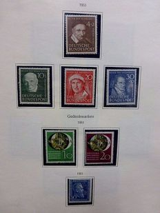Germany, Federal Republic 1951/1973 - collection of predominantly MNH material (on album pages)