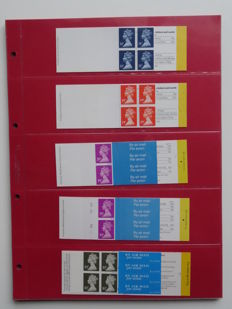 Great Britain 1987/2000 - Collection of 69 stamp booklets type: 'Barcode' (with variants) in album