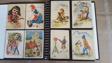 Old children's cards, including signed cards. 240 x