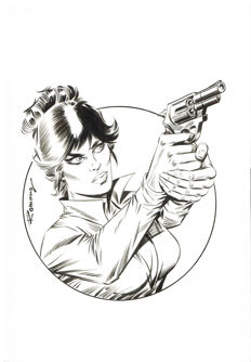 Romero, Enrique Badia - Original illustration - Modesty Blaise