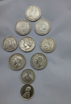 World - Lot of 10 coins - Silver