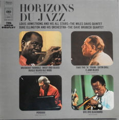 Horizons Du Jazz 9 RARE & VERY RARE Albums : Buddy Tate - John Lewis - Charlie Mingus - Dave Brubeck - Gene Krupa - Johnny Hodges and many more.