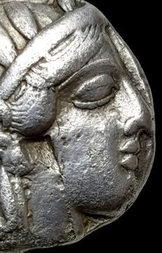 Greek Antiquity - Attica, Athens, 454-404BC, AR Tetradrachm. With Countermark
