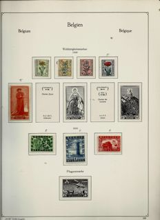 Belgium 1949/1972 - Collection on Kabe album pages with mounts in a binder