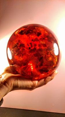 Huge hand made Composite Baltic Amber Ball, Sphere - 1,829 kg
