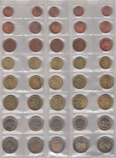 Finland - year set of euro coins 1999/2012 (14 items)
