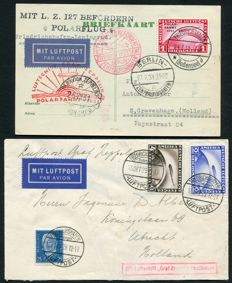 Germany 1929/1931 - Airmail (Zeppelin) - Selection of 2 covers