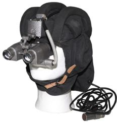 Tank helmet and infra-red night vision goggles