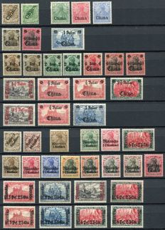 German Offices in China, Turkey and Morocco 1890/1900 - Small collection with many varieties