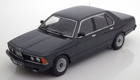 "KK-scale - scale 1/18 - BMW 733i (E23) 1977 - black ""limited"" 1,000 pieces!"