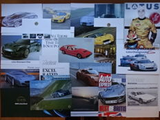 1975 - 2011 - LOTUS Elite, Esprit, Excel, Elise, Elite, Europa, Elise Motorsport, Elise 111S, Exige, M250 Concept car, etc  - mixed lot of 22 sales brochures & original items