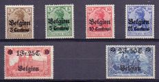 Belgium 1914 - Occupation stamps between OBP OC 1 and 25