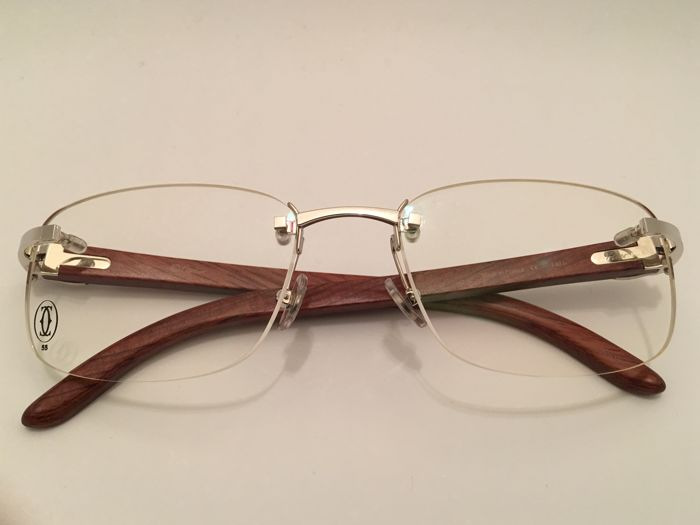 32daa44a73 Cartier - CARTIER PAGLIA T8100652 Rosewood glasses Glasses - Vintage .