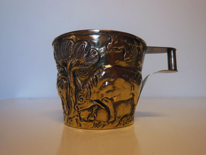 Collectible Lalaounis cup 925 silver gold-plated, Lalaounis, Greece, 20th century